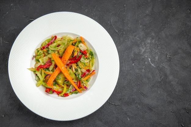 Salada de salada com pimentão de cenoura