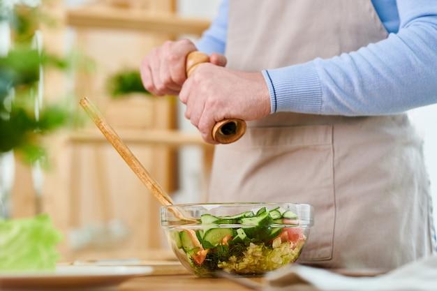 Salada de tempero com pimenta