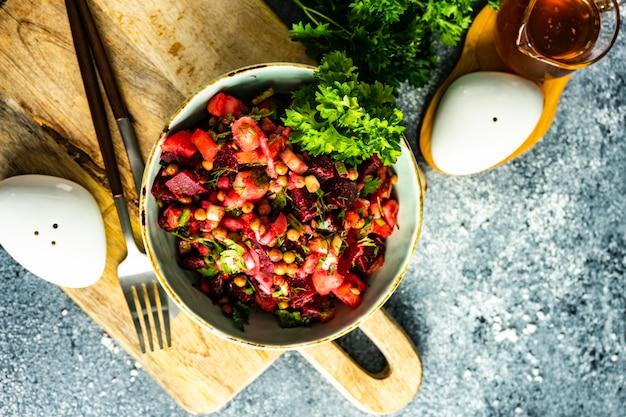 Salada de vegetais orgânicos