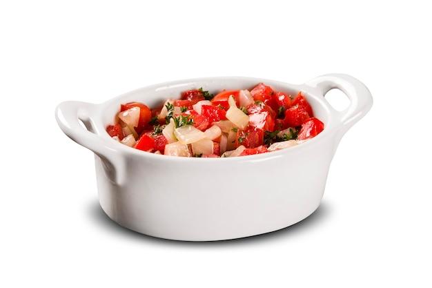 Salada de vinagrete isolada