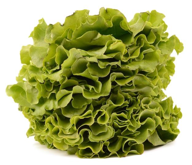 Salada em fundo branco