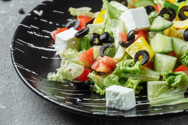Salada grega com pepino