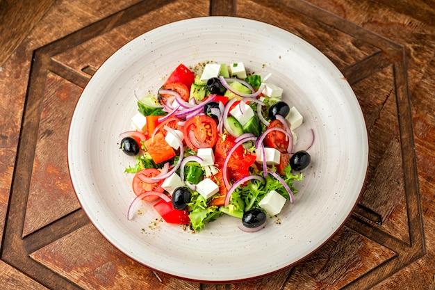 Salada grega de legumes