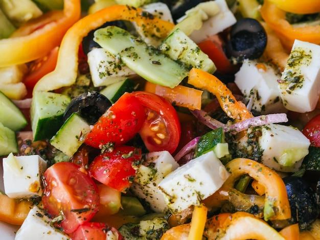 Salada saudável. conceito de dieta