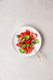Salada saudável, vista superior
