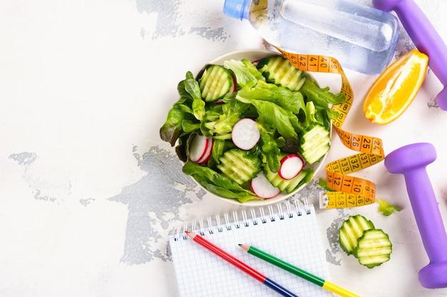 Salada vegetariana saudável
