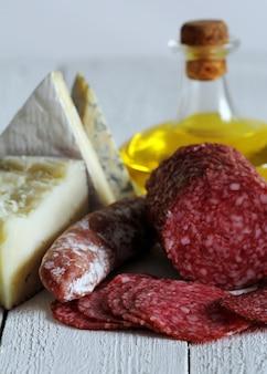 Salame e queijo