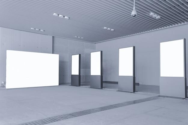 Salão ad cartaz em branco inglaterra