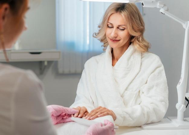 Salão de higiene e cuidado das unhas
