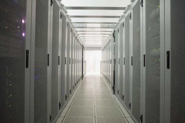Salão de servidores vazio