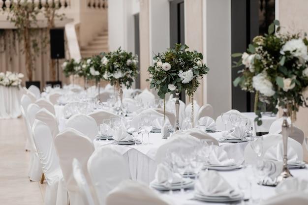 Salão decorado para um evento