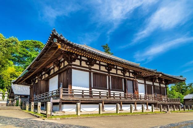 Salão hokke-do do templo todai-ji em nara, japão