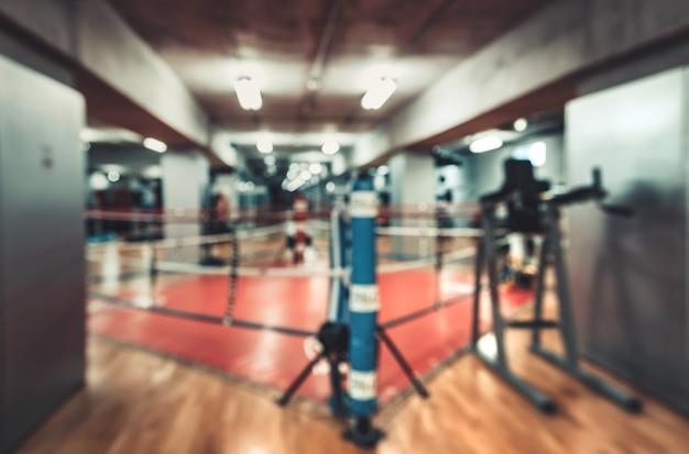 Salão para boxe no ginásio