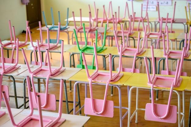 Salas de aula do jardim de infância sem alunos
