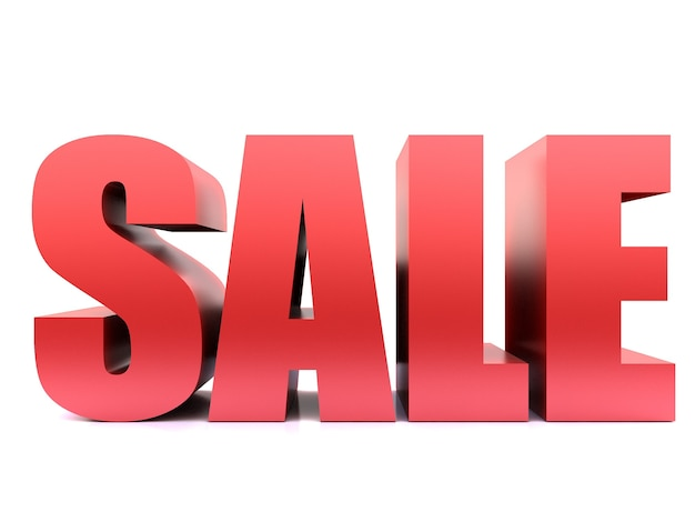 Sale word, 3d render