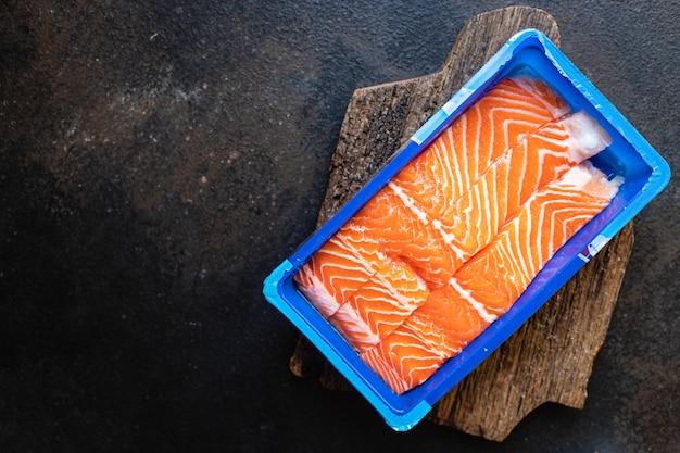 Salmão crus frutos do mar alimentos produtos orgânicos refeição lanche cópia espaço alimentos fundo dieta pescetarian