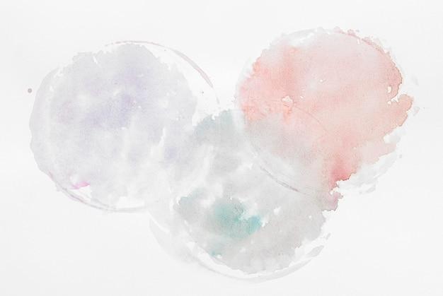 Salpicos circulares de tinta aquarela