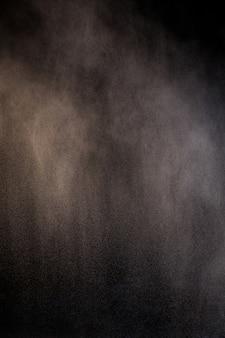 Salpicos de pó de poeira