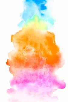 Salpicos de três cores brilhantes