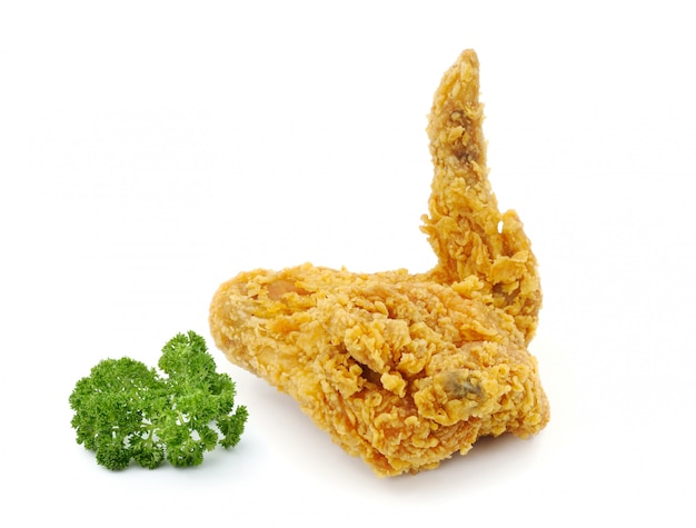 Salsa e frango frito marrom dourado