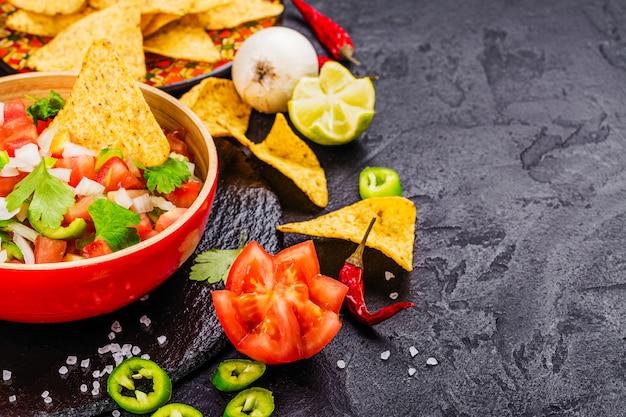 Salsa mexicana do pico de gallo