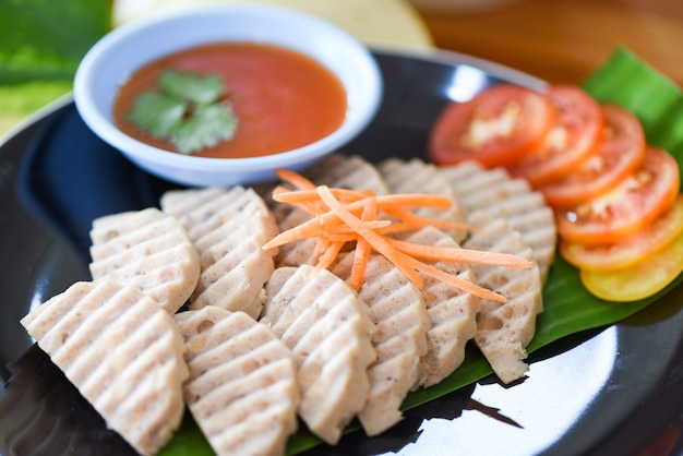 Salsicha de porco asiática branca