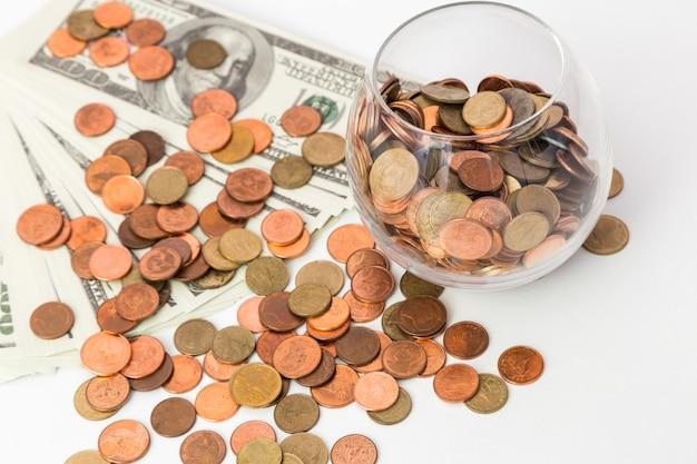 Salvando o conceito de dinheiro, crescimento de negócios até
