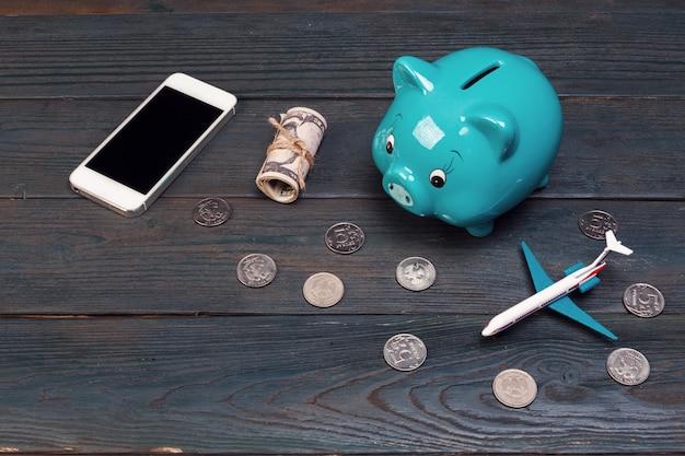 Salvando o planejamento para o orçamento de viagens do conceito de férias