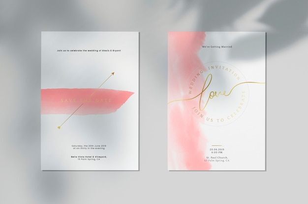 Salve o cartão de convite de casamento de data