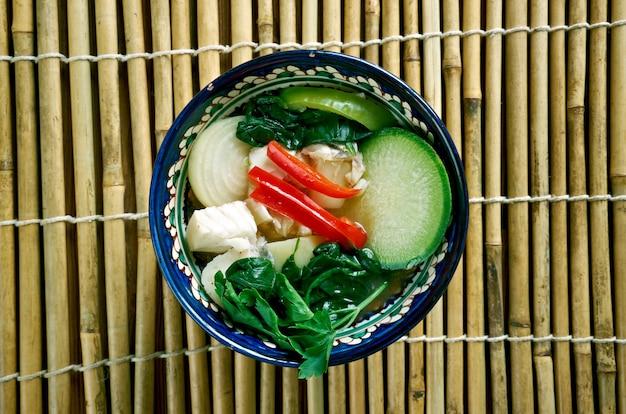 Samlar machu - termo da linguagem khmer, sopas azedas. cozinha cambojana