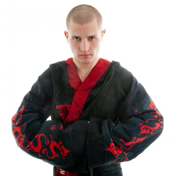 Samurai dragão em branco