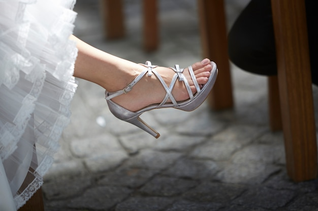 Sandália mulher prata