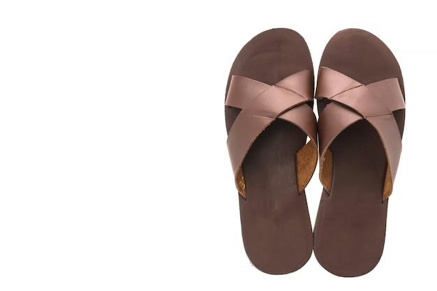 Sandálias de couro e sapatos de flip flop para homens