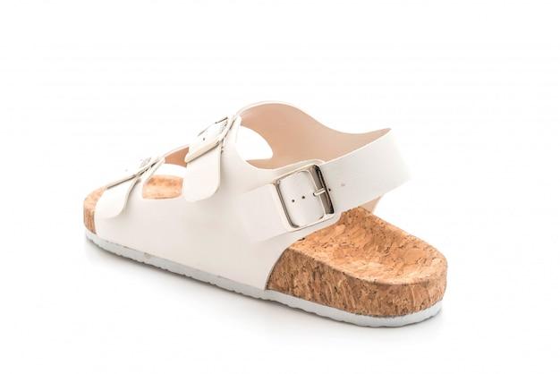 Sandálias de couro unisex