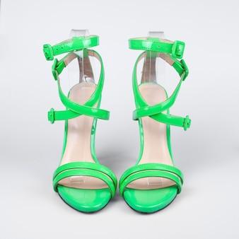 Sandálias de verão verde