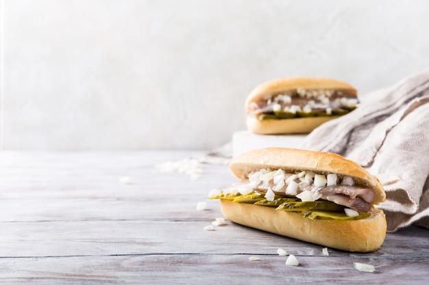 Sanduíche com arenque