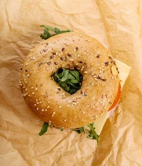 Sanduíche de bagel