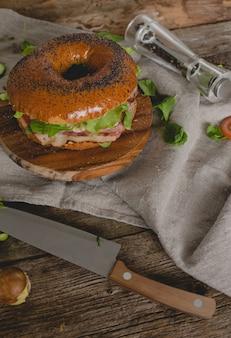 Sanduíche de rosquinha