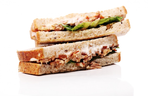 Sanduíche fresco e saboroso