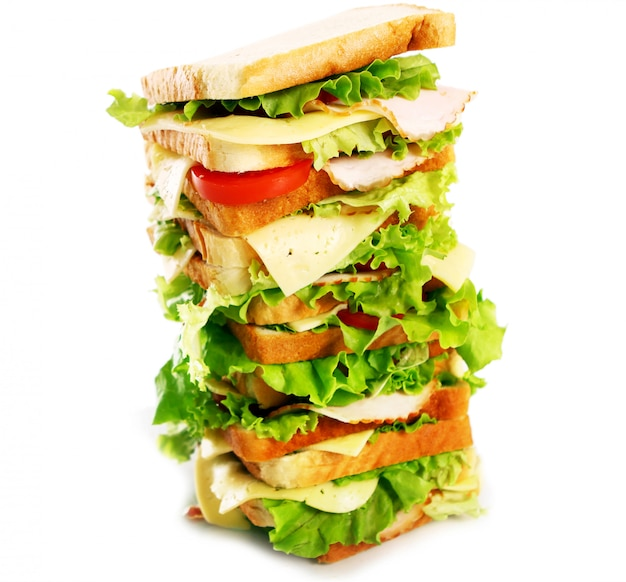 Sanduíche muito grande