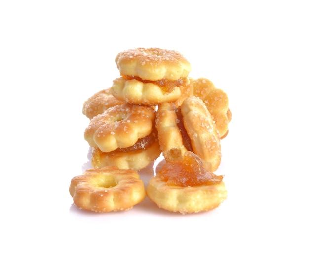 Sanduíches de biscoito e recheio de abacaxi