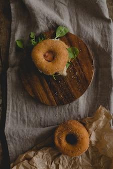 Sanduíches de rosquinha