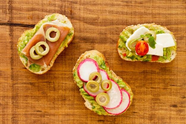 Sanduíches orgânicos