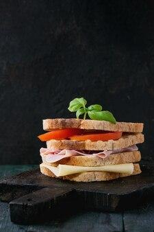 Sandwish com presunto e queijo