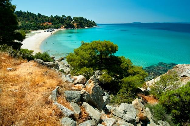 Sandy bay, sithonia, norte da grécia