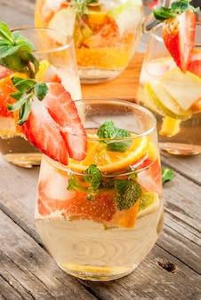 Sangria de bebida de verão