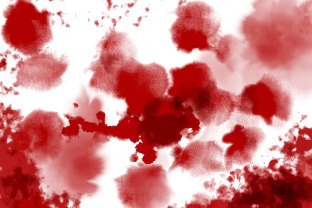 Sangue do feriado de halloween vermelho sobre fundo branco. dia das bruxas horror