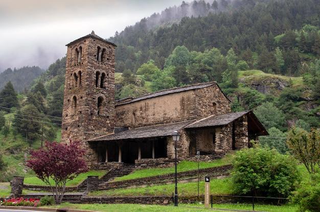 Sant joan de caselles. igreja românica do final do século xii. canillo. andorra