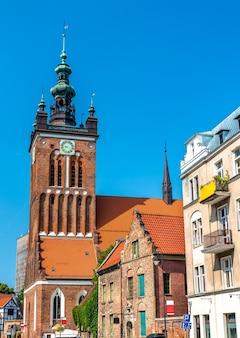 Santa catarina, a igreja mais antiga de gdansk - pomerânia, polônia