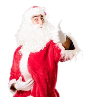 Santa com o polegar para cima